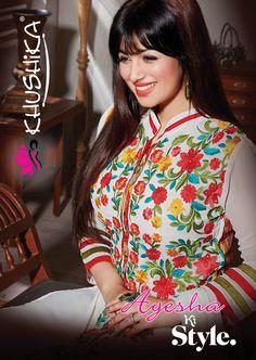 For style conscious ladies, we are launching exclusive designer salwar suits collection Ayesha Ki Style with the very stylish #ayeshatakia.  #Khwaish #Khushika #Designer #Chiffon #SalwarSuits #SalwarKameez #Embroidered #Floral #Stylish #Wholesale #India #Manufacturer