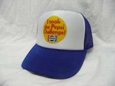 Pepsi Challenge Trucker Hat - Products, Business and Brands Trucker Hats & More