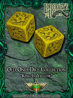 """""""King In Yellow"""" Old Ones Dice Design"""