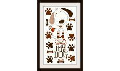 """""""My dog"""" Gráfico para bordar en punto de cruz. Patrón en formato PDF Tamaño:79 x 148 puntos"""