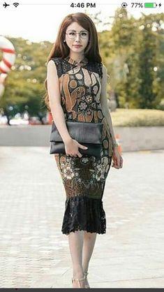 Simple Short Dresses, Spring Dresses Casual, Winter Dress Outfits, Trendy Dresses, Modest Dresses, Model Dress Batik, Batik Dress, Batik Fashion, Women's Fashion