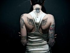 Awesome Back Wings Tattoo - http://99tattooideas.com/awesome-back-wings-tattoo/ #tattoo