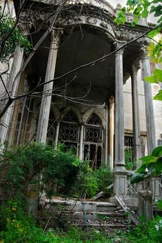 Abandoned Mansion -- so much story here...what is the story?  These old places are hard to keep up--genuine money pits.  But even at this stage, reparable...lots of money, love, sweat and tears.  But look what you'd have when you were done!
