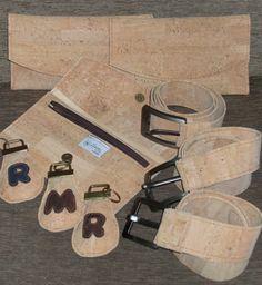 wallet, belt, keychain in cork #wallet #belt #keychain #cork