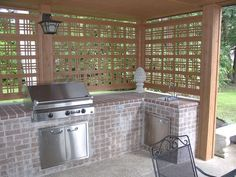 Outdoor Kitchen, like the privacy screening