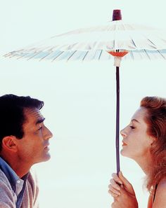 """deforest: """" Gregory Peck and Deborah Kerr photographed by Bob Willoughby during the making of Beloved Infidel (1959) """""""