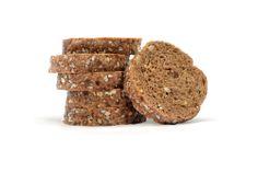 Mini tosta de cereales. Rebanadas de pan de cereales.