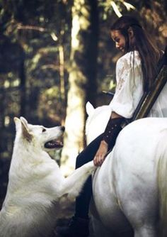 Horse and Wolf Story Inspiration, Character Inspiration, Fantasy World, Fantasy Art, Foto Gif, She Wolf, Fantasy Photography, Medieval Fantasy, Belle Photo
