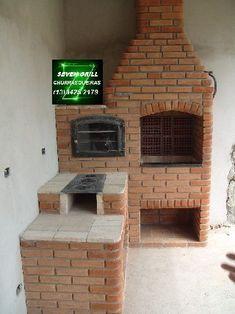 Resultado de imagem para forno e churrasqueira - Churrasco - Outdoor Oven, Outdoor Cooking, Wooden Terrace, Bbq Area, Cottage Homes, Homesteading, My House, House Plans, Pergola