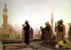 Egypt , Old Cairo Paintings: Jean Leon Gerome French, 1824–1904 , Prayer in Cairo 1865