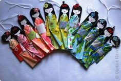 Куклы, Мастер-класс Моделирование: Как сделать бумажную японскую куколку. Бумага. How to make a paper japanese doll. A step-by-step picture tutorial.