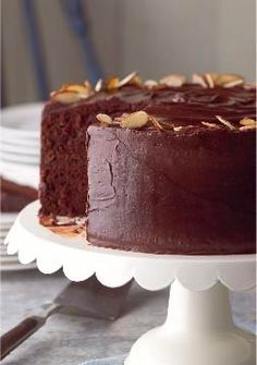 Best-Ever Chocolate Fudge Layer Cake — Extra chocolate and pudding mix in the batter make this dessert not just super rich, moist and amazingly delicious, but the best ever.