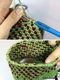 Knit Stitch Crochet Pattern Tutorial