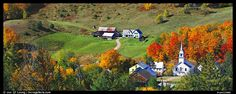 Image detail for -Rural landscape with village and fall colors, East Corithn. Vermont ...