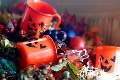Halloween traditions, pumpkin cups