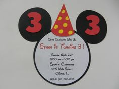 Mickey Mouse Inspired Invitations Happy by whimsycreationsbyann, $14.99