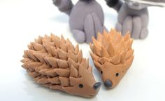 Woodland Porcupine fondant cake topper - 1 qty Edible 2.5 inch for a woodland party, camping party, birthday, wedding shower. $7.00, via Etsy.