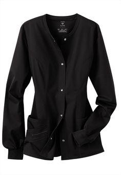 Black scrubs uniform jacket, since I can't wear mine much longer ;)