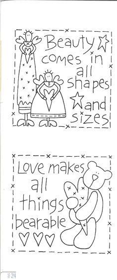 embroidery .Lindos desenhos de Natalie Bird.Do livro Sweet Sentiments.  http://www.thebirdhouse.com.au/books/ss/ss.htm