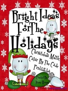 Bright Ideas For The Holidays:   Christmas Math Puzzles ~ Color By The Code To Practice Basic Addition and Subtraction Math Facts.    Perfect set for the last few days before the winter vacation!    This set includes 4 math puzzles:    ~ One Color By The Sum    ~ One Color By The Difference    ~ Two Different Color By The Sum and Difference    Set also includes answer keys for all four puzzles.