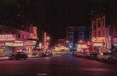 Rush Street at Night - Chicago, Illinois