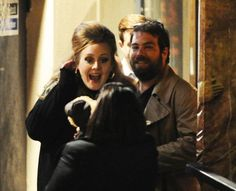 Adele and her boyfriend