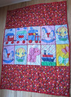 70s Baby Blanket by lishyloo on Etsy, $15.00