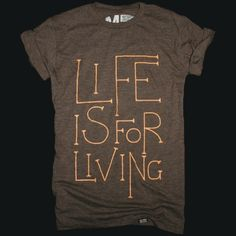 A cool t-shirt to show off your love for life. Awesome material and cool print, simply love this tee!