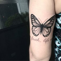 likes, 26 comments - Female Tattoos Realistic Butterfly Tattoo, Monarch Butterfly Tattoo, Butterfly Tattoos On Arm, Butterfly Tattoo Designs, Cute Tattoos, Leg Tattoos, Arm Tattoo, Body Art Tattoos, Tatoos