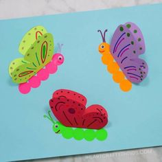 Butterfly Crafts for Preschoolers - great summer crafts for kindergarten and up. love these adorable Butterfly Activities crafts for kids 35 Butterfly Crafts - Red Ted Art Paper Butterfly Crafts, Butterfly Kids, Paper Butterflies, Flower Crafts, Paper Crafts, 3d Paper, Simple Butterfly, Diy Flowers, Wood Crafts
