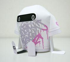 Shin Tanaka, paper toys, paper art, toys, art, graffiti, paper toy mania, origami