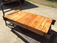 Nutting industrial cart now at Antique Crossroads