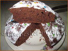 Шоколадный кекс в мультиварке с кабачком