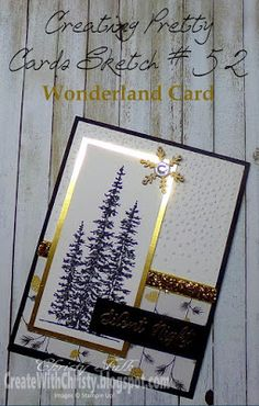 Create With Christy: Creating Pretty Cards Sketch #52 - Win A Free Month CPC Subscription!