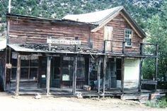 Silver City in Idaho.(photo by Larry Myhre) Silver City is an old gold and silver mining town established in 1864.  Today, Silver City has still about 70 still standing buildings - all privately owned - and is only accessible via a dirt road. The townsite and its environs are listed on the National Register of Historic Places.