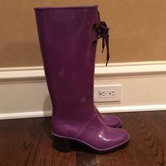 Purple heeled Marc Jacobs rain boots Size 38 Marc by Marc Jacobs Shoes Winter & Rain Boots