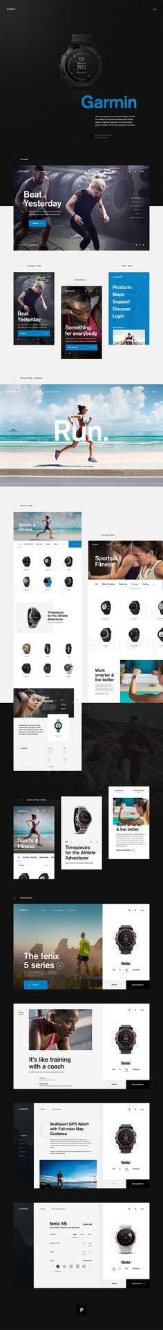 Garmin Web Exploration  #ui #webdesign #concept #minimal #inspiration #garmin #fitness #interactive #userexperience #motion #simple #watch #behance #dribbble #mobile
