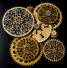 cool laser cut gear patterns - Google Search