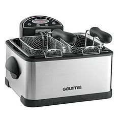 Gourmia TriBasket 42 qt Stainless Steel Exterior Deep Fryer with Digital Display and Activated Carbon FryFilter That Eliminates Odors in the Kitchen ** Check out the image by visiting the link.