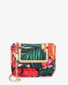 Tropical toucan clutch bag - Black | Bags | Ted Baker