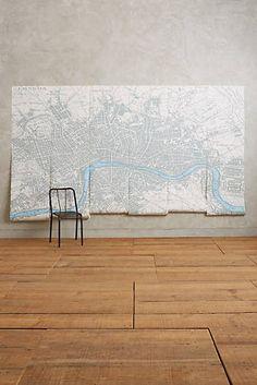 London Map Mural