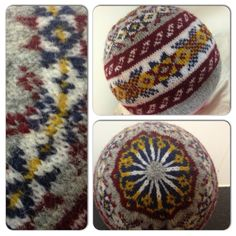 Shwook hat, pattern by Hazel Tindall for Shetland Wool Week.  You submit your email address to the shetland wool week website to receive the free pattern download.