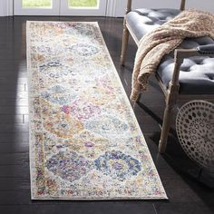Shop Safavieh Madison Avery Distressed Vintage Boho Chic Rug - On Sale - Overstock - 12659869 - x - Ivory/Multi Carpet Runner, Rug Runner, Cream Colored Cabinets, Great Dane, Floral Area Rugs, Cream Area Rug, Transitional Rugs, Orange Area Rug, Cool Rugs