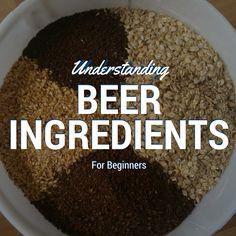 Understanding Beer Ingredients For Beginners - Homebrew World 2020 Brewing Recipes, Homebrew Recipes, Beer Recipes, Alcohol Recipes, Make Beer At Home, How To Make Beer, Distilling Alcohol, Beer Ingredients, Homemade Beer