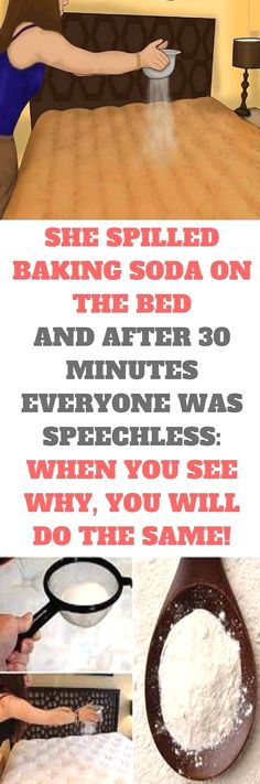 She Spilled Baking Soda On The Bed And After 30 Minutes Everyone Was Speechless: When You See Why, You Will Do The Same !  🤨 Striking