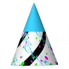 Black White and color Splatter Design Party Hat - accessories accessory gift idea stylish unique custom