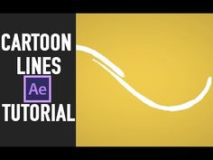 after effects tutorial : Cartoon lines animation