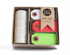 NEW Tag  Twine Box // Holiday Assortment by knotandbow on Etsy, $20.00