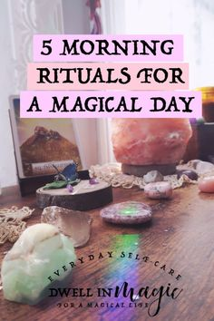5 Morning Rituals for a Magical Day My 5 tried-and-true morning rituals that will make your day unfold magically. Ways To Wake Up, How To Wake Up Early, Witchcraft For Beginners, Morning Ritual, Book Of Shadows, How Are You Feeling, Day, Magic Spells, Witchcraft Spells
