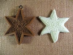 Springerle Star or Starfish cookie mold 1037 would make a great polymer clay pendant